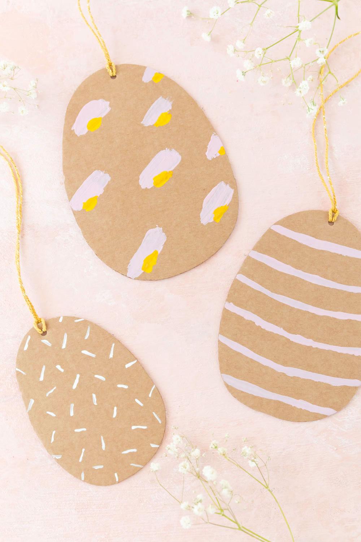 Ostereier aus Pappe basteln - Anleitung