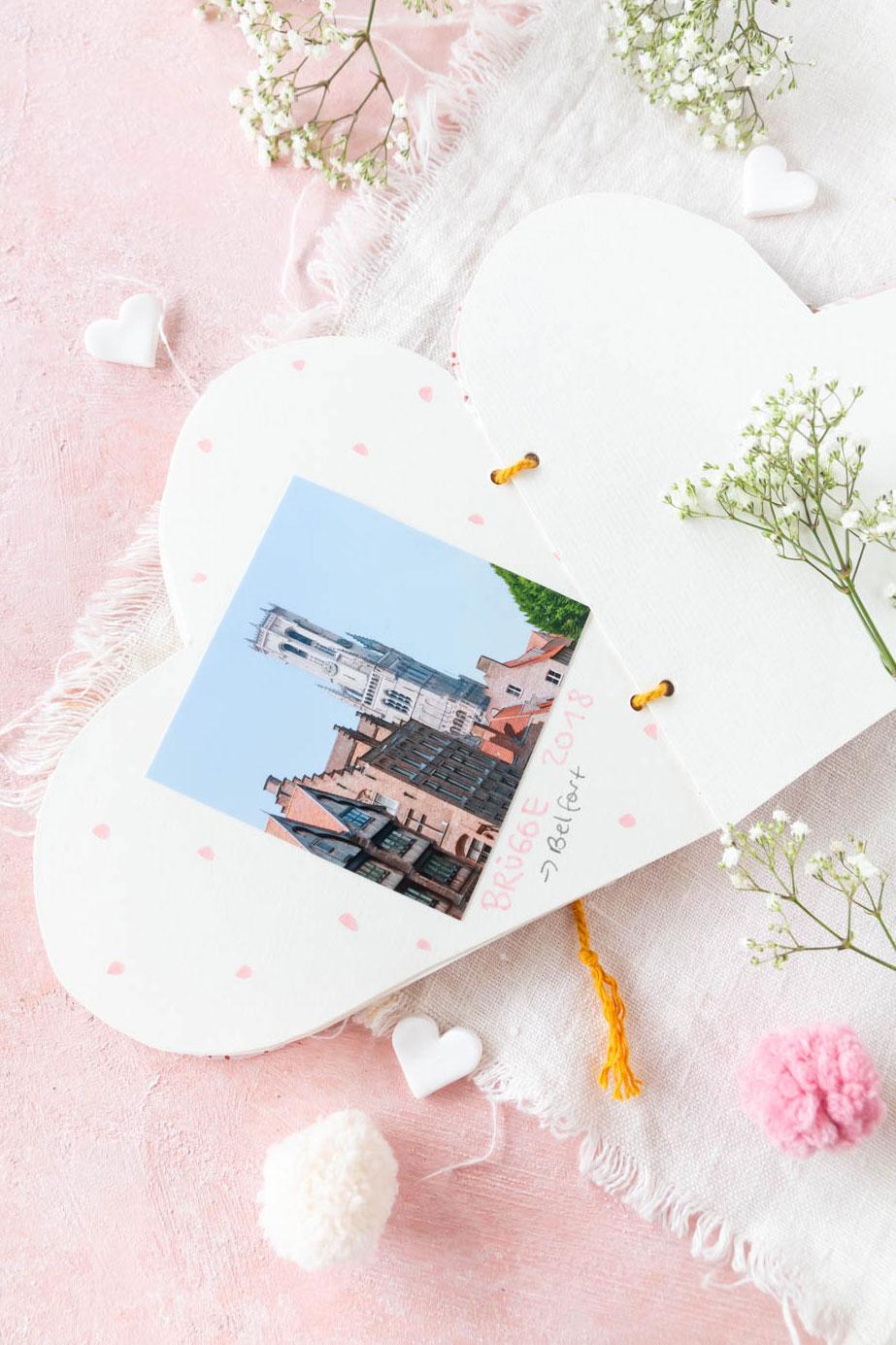 Herz Fotoalbum zum Muttertag basteln - DIY Geschenk