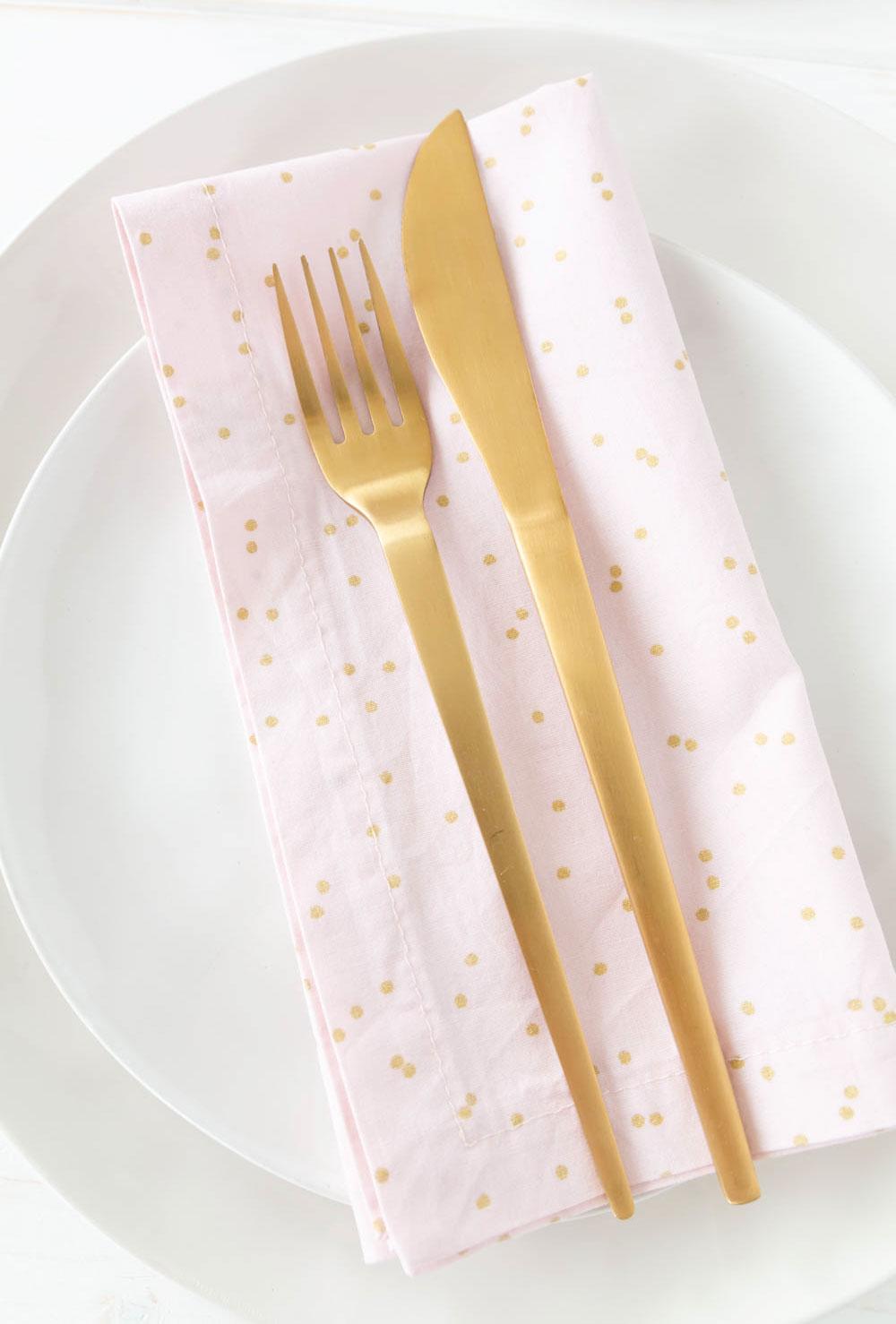 Anleitung Servietten selber machen mit Einfache Serviette mit Briefecke nähen