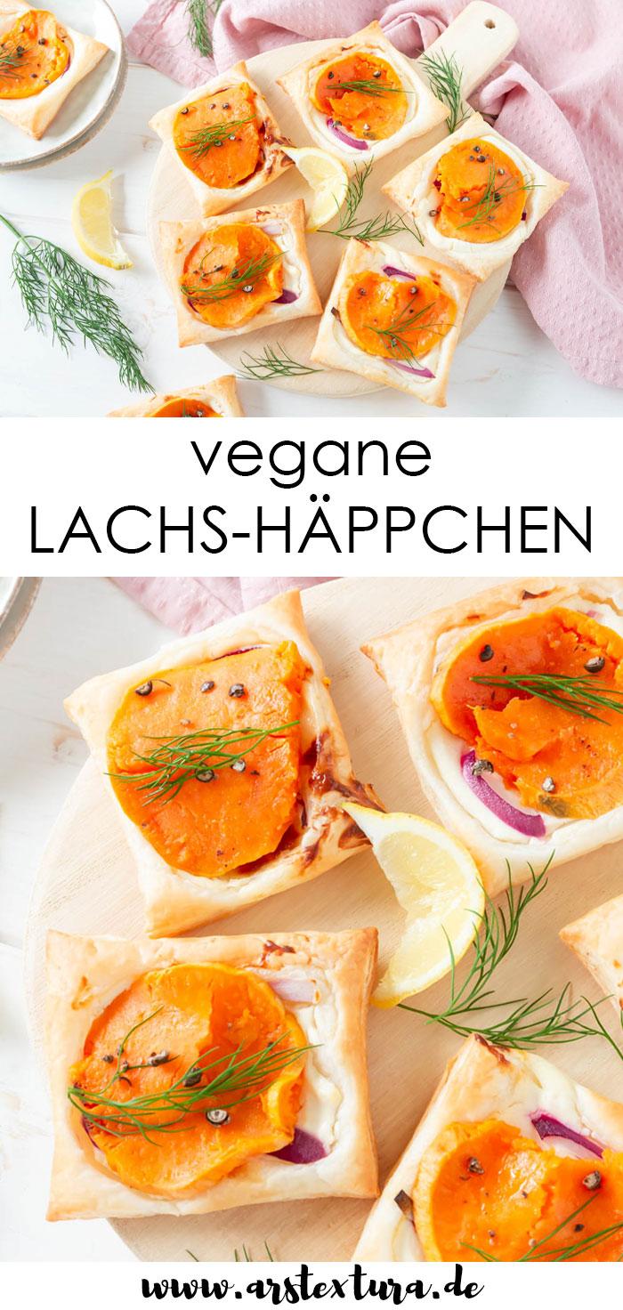 Rezept vegane Lachs Häppchen - Flammkuchen