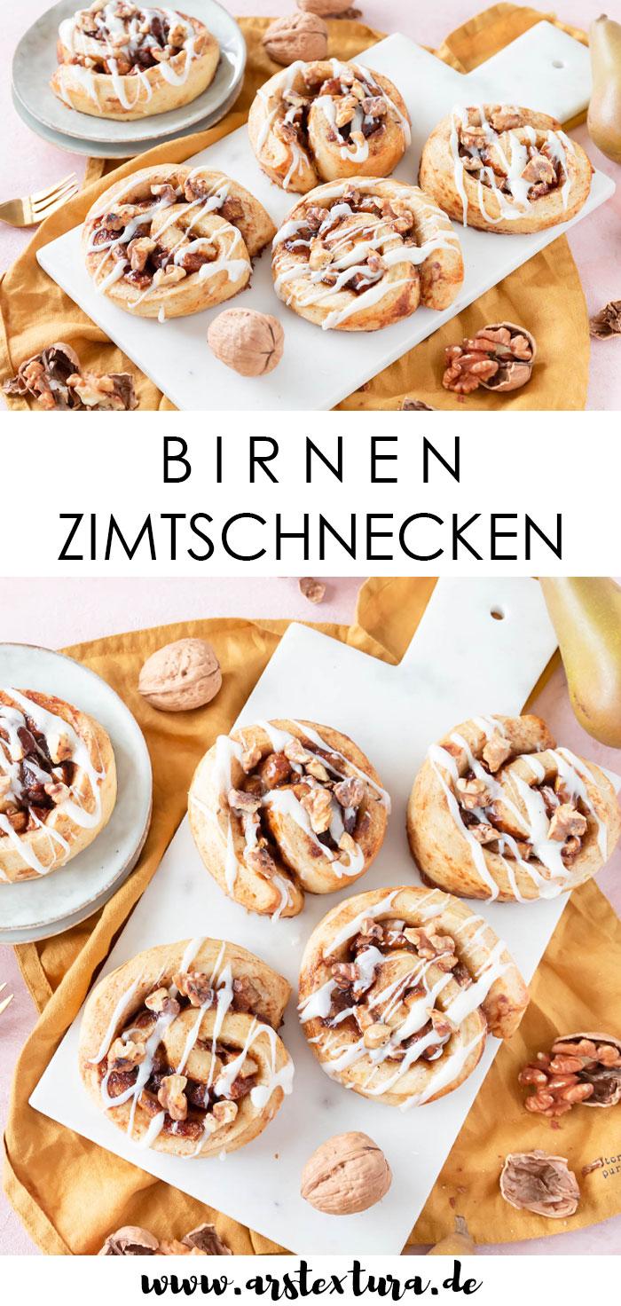 Rezept Birnen Zimtschnecken