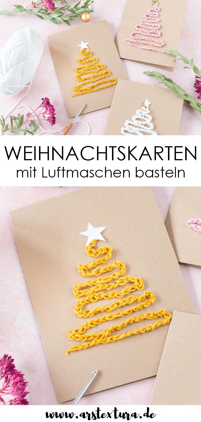 Weihnachtskarten mit Tannenbaum basteln
