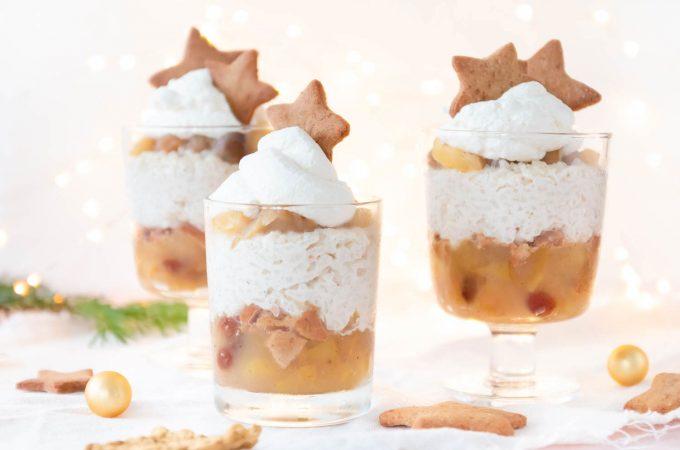 Weihnachtliches Dessert mit Bratäpfeln und Milchreis