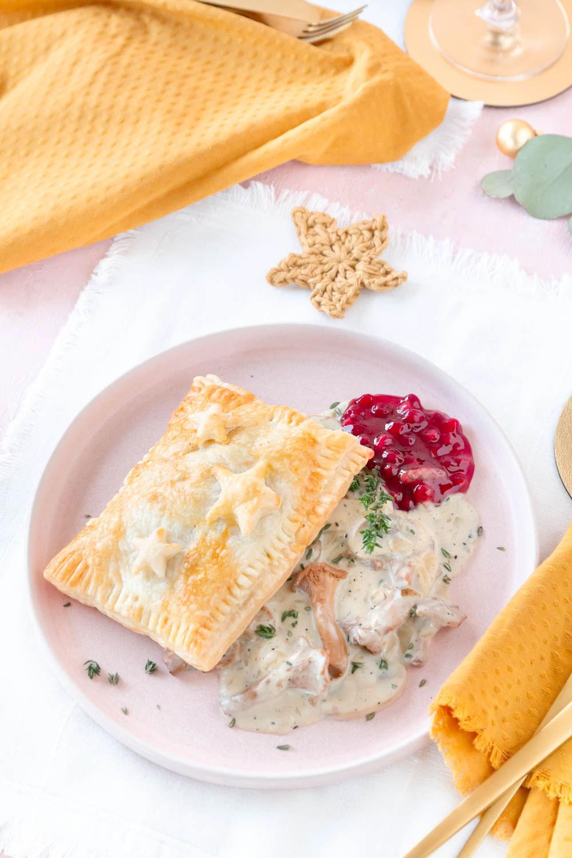 Rezept Vegetarische Blätterteig Pasteten mit Trüffel Pilzrahm