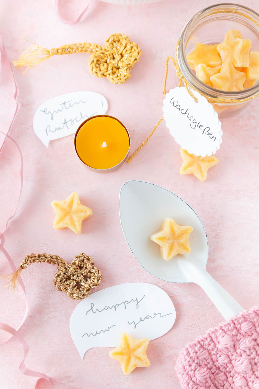 Anleitung Wachsgießen selber machen - Silvester