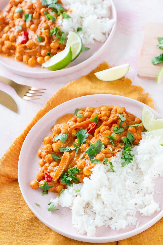 Kichererbsen Curry - Chickpea Tikka Masala - veganes Rezept